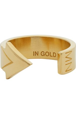 In Gold We Trust Gold Arrow Ring