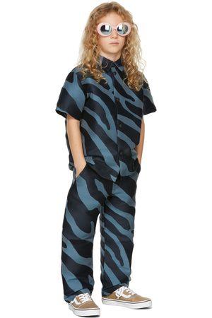 BO(Y)SMANS Kids Blue Zebra Trousers