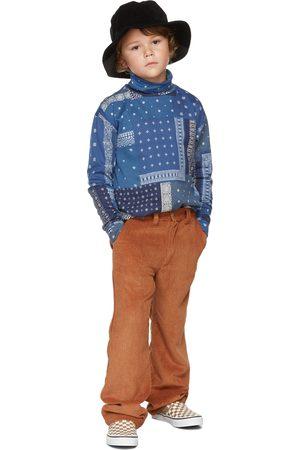 BO(Y)SMANS Kids Blue Jersey Print Long Sleeve T-Shirt