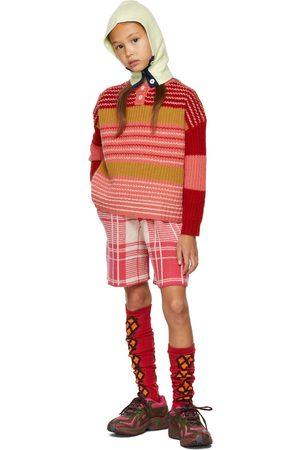 Ligne Noire Kids Red & Pink Virgin Wool Stripe Sweater