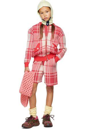 Ligne Noire Bomberjacks - Kids Pink & Off-White Tartan Bomber Jacket