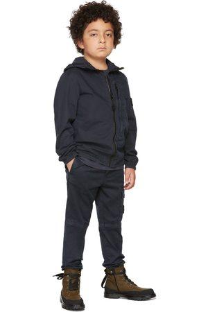 Stone Island Junior Kids Navy Hooded Zip-Up Overshirt
