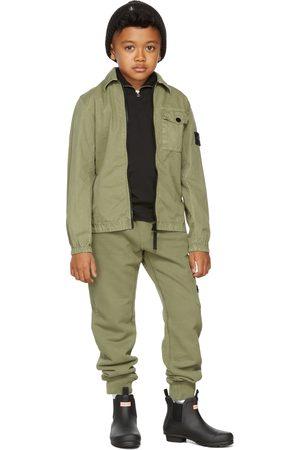Stone Island Junior Kids Green Classic Lounge Pants