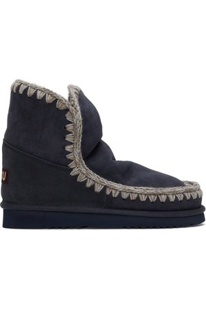 Mou Navy Ankle Boots