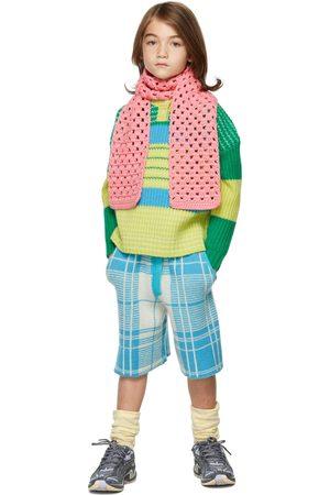 Ligne Noire Kids Green & Blue Virgin Wool Stripe Sweater