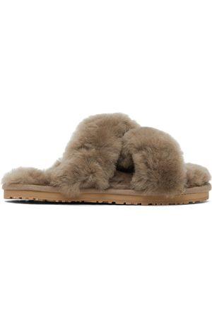 Mou Grey Criss-Cross Slippers