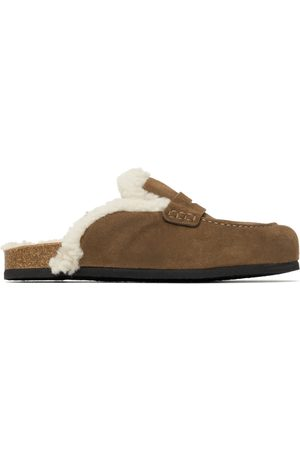 J.W.Anderson Brown Shearling Loafers