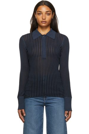 Dagmar Navy Bronte Knitted Polo