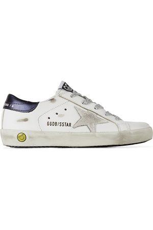 Golden Goose Kids White & Navy Super-Star Classic Sneakers