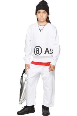 MM6 MAISON MARGIELA Kids White Logo Print Sweatshirt