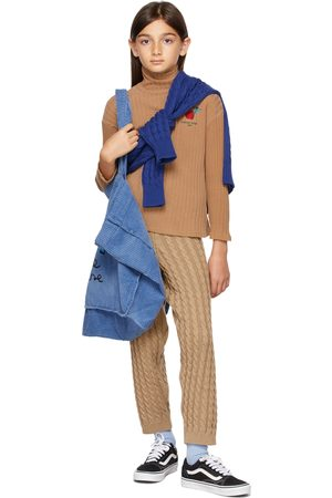 Weekend House Kids Kids Tan Cable Knit Apple Trousers