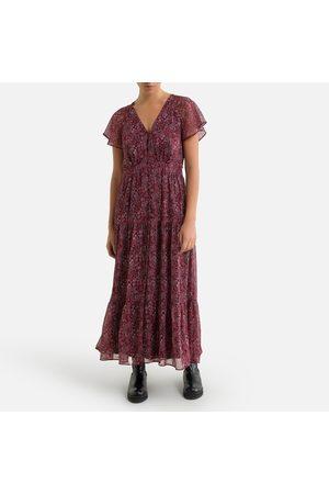 IKKS Dames Geprinte jurken - Lange jurk met bloemenprint