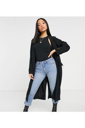 ASOS ASOS DESIGN Petite soft duster jacket in black
