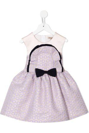 HUCKLEBONES LONDON Meisjes Feestjurken - Ruffle bib-bodice dress