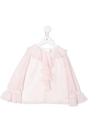 Hucklebones London Meisjes Blouses - Ruffle-front blouse