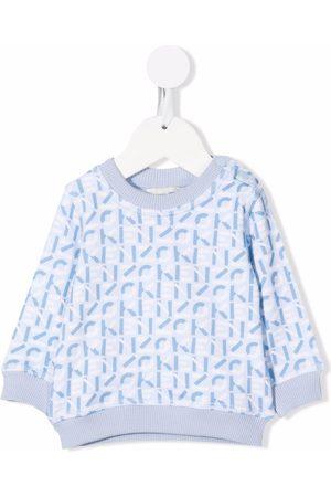 Kenzo Sweaters - Monogram-print fleece sweatshirt
