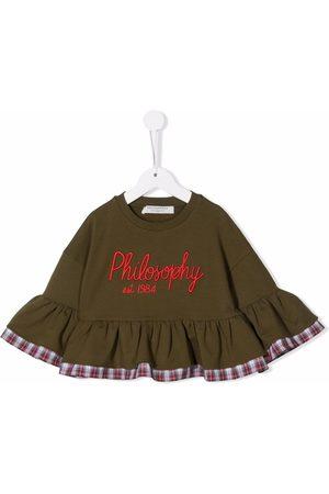 PHILOSOPHY DI LORENZO SERAFINI Meisjes Blouses - Logo-print flared top