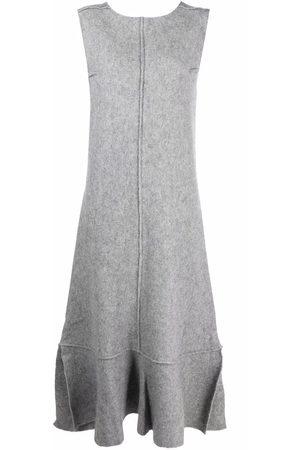 Jil Sander Dames Casual jurken - Felted peplum-hem dress