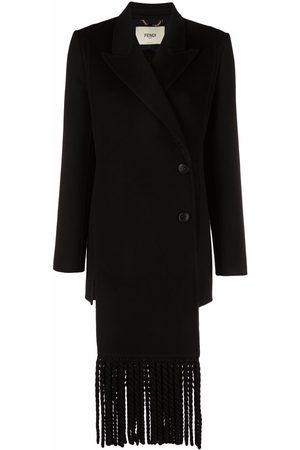 Fendi Double-breasted fringed coat