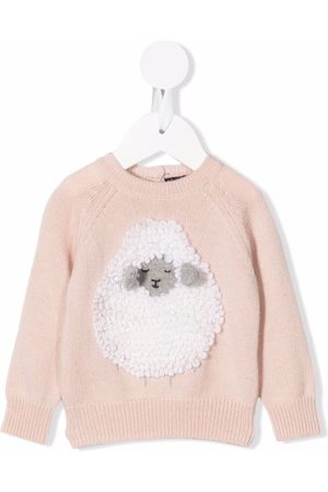 Il gufo Sweaters - Sheep-ornament knitted sweater