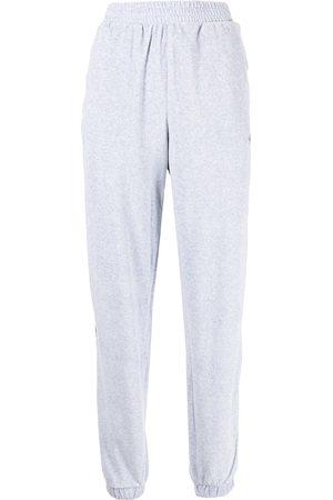 adidas Dames Joggingbroeken - Logo-embroidered high-waisted track pants