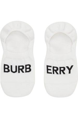 Burberry Heren Sokken - White Rib Invisible Socks