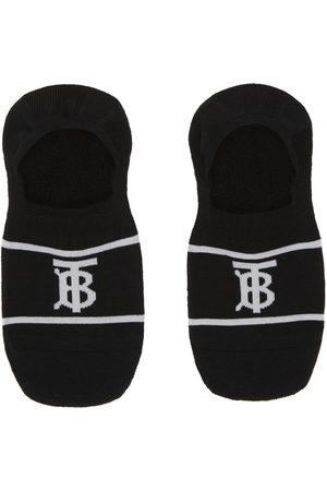 Burberry Black Rib Invisible TB Socks