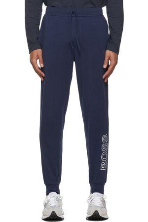 HUGO BOSS Heren Broeken - Blue Outline Logo Lounge Pants