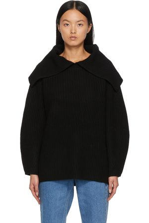 By Malene Birger Dames Sweaters - Black Fevila V-Neck Sweater