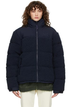 The North Face Dames Donsjassen - Navy Sherpa Nuptse Down Jacket