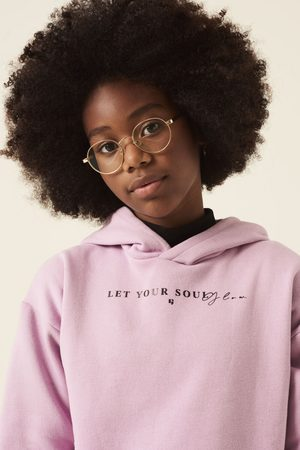 Garcia Meisjes Hoodies - Paarse hoodie met teksprint j12661 1591 rebel lilac