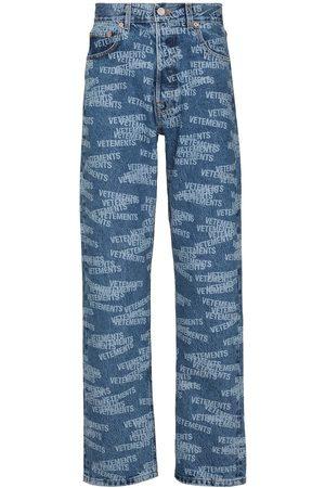 Vetements Heren Straight - Stamped logo straight-leg jeans