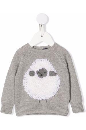 Il gufo Sheep applique crewneck sweater