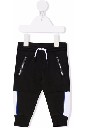 HUGO BOSS Baby Joggingbroeken - Logo-print cotton track trousers