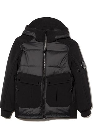 C.P. Company Panelled quilted puffer jacket