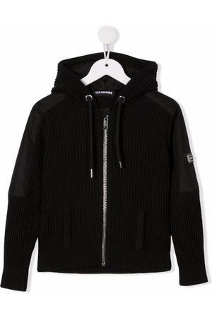 Les Hommes Logo-plaque zip-up hoodie