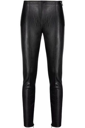 Armani Dames Leggings - Leather-look zip-cuff leggings