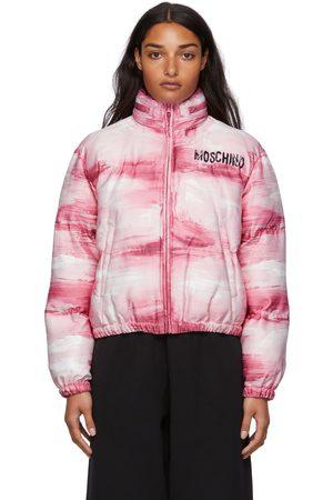 Moschino Dames Donsjassen - Pink Painted Puffed Jacket