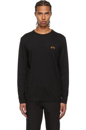 HUGO BOSS Black Togn Curved Long Sleeve T-Shirt
