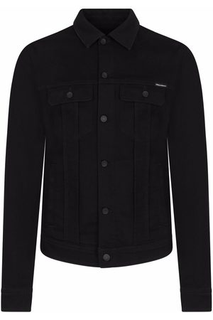Dolce & Gabbana Heren Donsjassen - Camp collar denim jacket