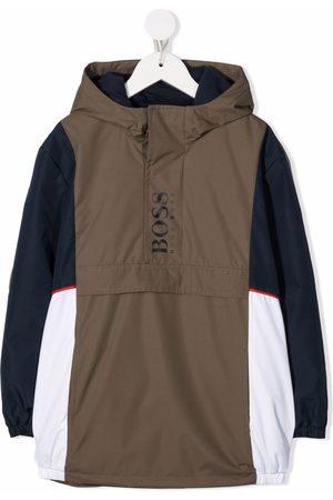 HUGO BOSS Colour-block hooded parka