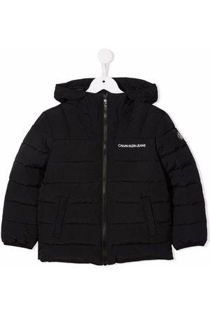 Calvin Klein Jongens Donsjassen - Logo-print hooded padded coat