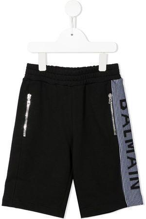 Balmain Jongens Shorts - Logo side-stripe shorts