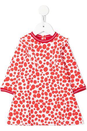The Marc Jacobs Meisjes Casual jurken - Spot-print long-sleeved dress