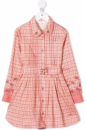 Chloé Kids Plaid shirt dress
