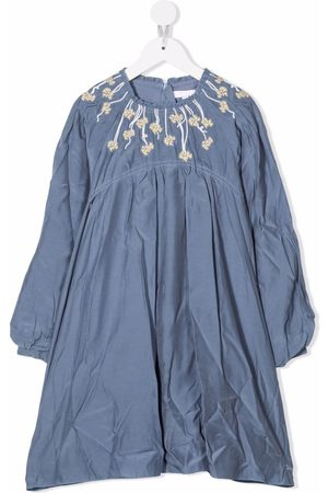 Chloé Embroidered-panel dress