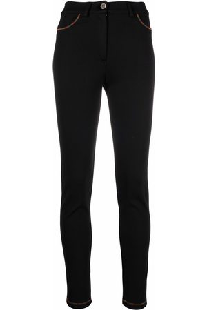 M Missoni Dames Skinny - Embroidered-logo legging jeans