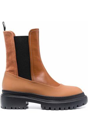 L'Autre Chose Ankle-length leather boots