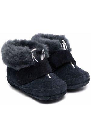 PèPè Fur-trimmed crib shoes