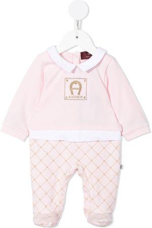 Aigner Logo-embroidered cotton pyjamas
